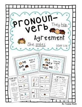 Pronoun/ Verb Agreement Pack