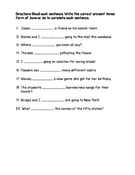 Pronoun-Verb Agreement Quiz