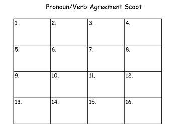 Pronoun Verb Agreement Scoot