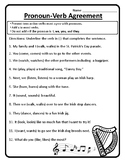 Grammar Pronoun-Verb Agreement Worksheet Pronoun Verb Agreement Practice #2