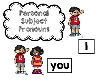 Pronoun Verb Anchor Chart