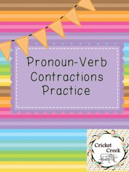 Pronoun-Verb Contractions practice