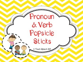 Pronoun & Verb Popsicle Sticks
