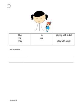 Pronoun /  Verb book