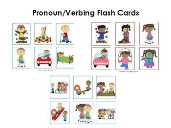 Pronoun/Verbing Flash Cards