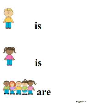 Pronoun Visuals with Helping Verbs (is/are) and Present Perfect (have/has)