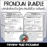 Pronoun Worksheet Bundle