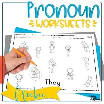 Pronoun Worksheets Freebie