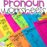 Pronoun Worksheets for Special Education