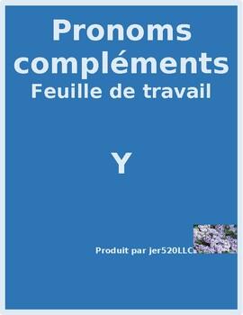 Pronoms compléments Y French pronoun worksheet