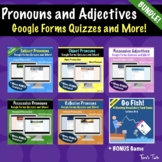 Pronouns and Adjectives Distance Learning BUNDLE - Google
