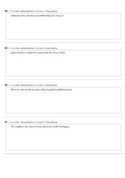 Pronoun and Adverb Practice Set 2 (Technology Enhanced)