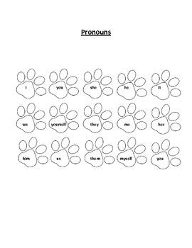 Pronoun and Noun Game