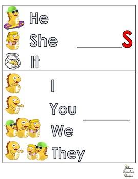 Pronoun and Verb Conjugation Chart/Present Simple Tense