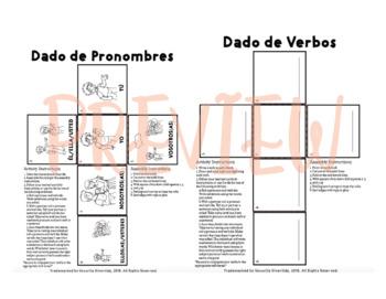 Pronoun and Verb Dice