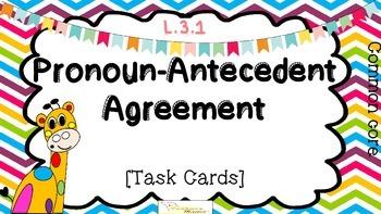 Pronoun-antecedent Agreement {L.3.1}