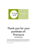 Pronoun helpers! He / she / they