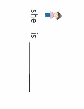 Pronoun sentence strips for Speech Therapy