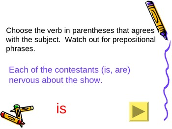 Pronoun/Verb Agreement