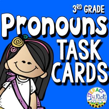 Pronouns Task Cards for Third Graders
