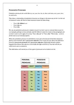 Pronouns: Student Activities and Handouts + Answer Key