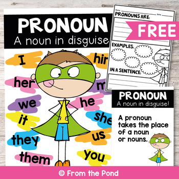 Pronouns Poster By From The Pond Teachers Pay Teachers