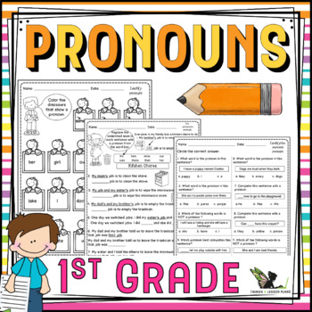 First Grade Pronouns