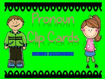 Pronoun Clip Cards