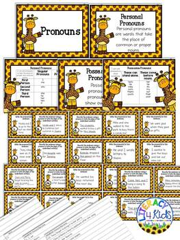 Pronouns Practice Task Cards for Third Graders
