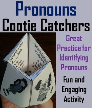 Pronouns Activity 2nd, 3rd Grade Grammar Games Foldable