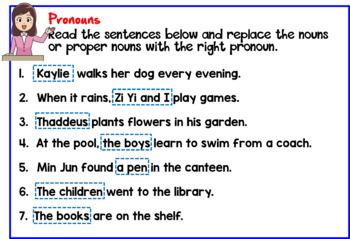 Noun And Pronoun Sentence