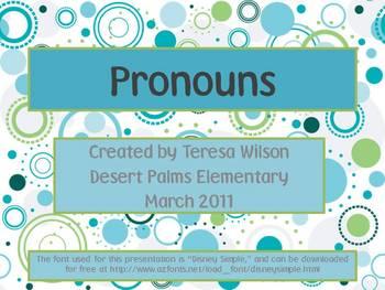 Pronouns - A Grammar Lesson PowerPoint