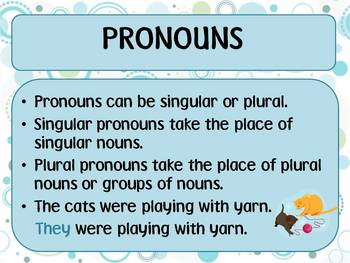 Pronouns - A Grammar Lesson PowerPoint
