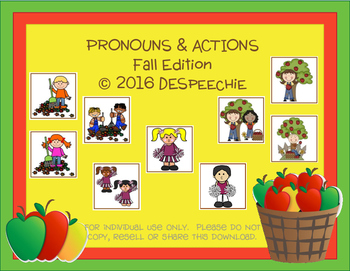 Pronouns & Actions Fall Edition