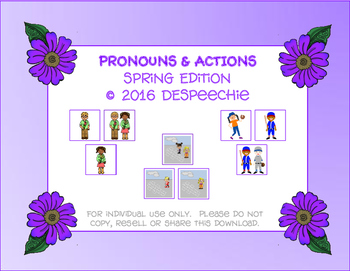 Pronouns & Actions Spring Edition