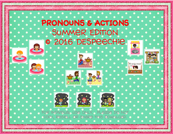 Pronouns & Actions Summer Edition