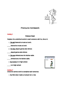 Pronouns Activity Booklet