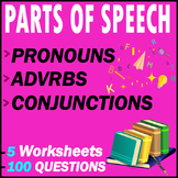 Pronouns, Adverbs, & Conjunctions Grammar Tests   100 MCQs