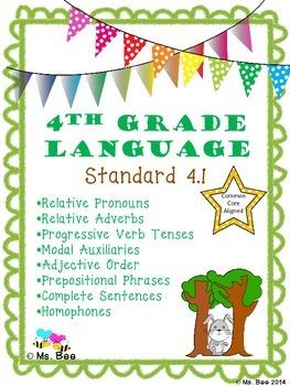 Pronouns, Adverbs, Progressive Verbs, Modal Auxiliaries, A