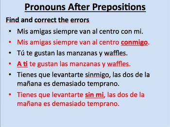 Pronouns After Prepositions--Initial Presentation