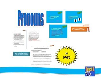 Pronouns - Antecedent Worksheet
