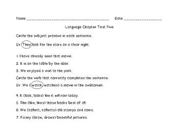 Pronouns Assessment