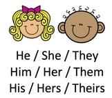 Pronouns Board Game:  Subjective, Objective, Possessive Pronouns