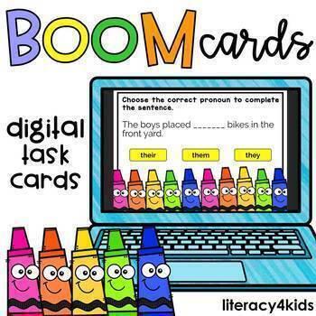 Pronouns Boom Cards (24 digital task cards)