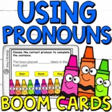 Pronouns Boom Cards (24 digital task cards)