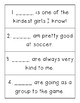 Pronouns Center and Recording Sheet