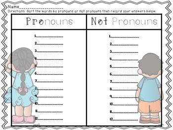 Pronouns: Common Core!