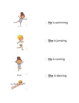 Pronouns' Companion Worksheets