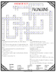 Pronouns Crossword