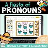 Pronouns Digital Activity & Assessment for Google Classroo